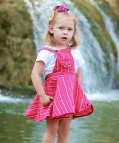 Loving this Pink Farah Overall Dress - Infant, Toddler & Girls on #zulily! #zulilyfinds