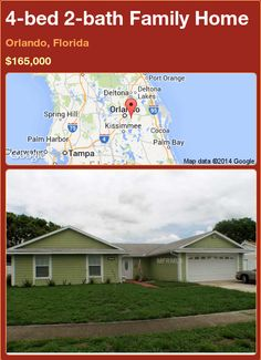 4-bed 2-bath Family Home in Orlando, Florida ►$165,000 #PropertyForSale #RealEstate #Florida http://florida-magic.com/properties/87132-family-home-for-sale-in-orlando-florida-with-4-bedroom-2-bathroom