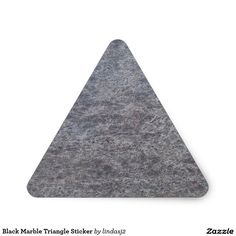 Black Marble Triangle Sticker