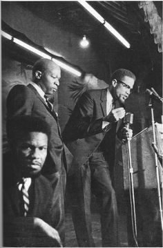 Malcolm X and Leon who claimed to have evidence that malcolm was killed by the CIA , Ameer died mysteriously shortly after malcolm was assassinated. Malcolm X, Black History Facts, Black History Month, Gil Scott Heron, Black Leaders, By Any Means Necessary, Black Pride, African American History, Black Power