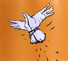Esta imagen pertenece al grupo de las imágenes simbólicas porque representa una paloma blanca en pleno vuelo, dando la impresión de libertad, pero esto esta representado mediante unas manos atadas, dando una impresión de estar encadenados, dando un doble significado a esta imagen, como podría ser interpretada: que no somos tan libres como creemos; aunque la primera impresión de la imagen es paz y libertad.