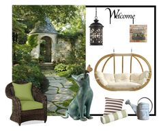 """""""A corner of my garden!"""" by colchico ❤ liked on Polyvore featuring interior, interiors, interior design, home, home decor, interior decorating, ELK Lighting, Pottery Barn, Amazonas and Fresh American"""