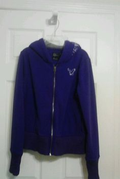 American Eagle Outfitters Girls Hooded Jacket Size LG