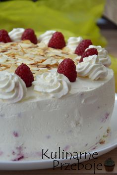 Tort Malinowa Rozkosz Cooking Recipes, Healthy Recipes, Healthy Food, Family Meals, Family Recipes, Sweet Recipes, Cheesecake, Pudding, Sweets