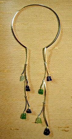 modern jewelry | Contemporary jewelry designs incorporating sea glass, beach pebbles in ...