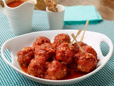 Excellent Meatballs Recipe : Anne Burrell : Food Network - FoodNetwork.com saute onions first?  beef/veal/pork