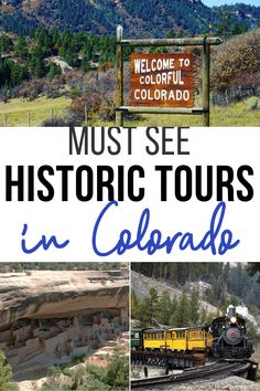 Must See Historic Tours in Colorado - Colorado is filled with history and adventure. Check out these Must See Historic Tours in Colorado - Colorado Must See, Road Trip To Colorado, Visit Colorado, Colorado Vacations, Denver Colorado, Colorado Springs, Vacation Wishes, Family Vacation Destinations, Vacation Ideas