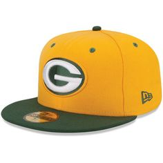 620e87a816aa7 New Era Green Bay Packers 2Tone 59FIFTY Fitted Hat - Gold