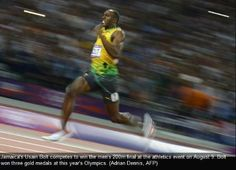 Now that's a photo finish! Usain Bolt grabs a camera and snaps his own historic frame after becoming greatest ever Olympic sprinter Usain Bolt, Carl Lewis, Michael Johnson, Olympic Gold Medals, Asian Games, Commonwealth Games, Fastest Man, Second World, Summer Olympics