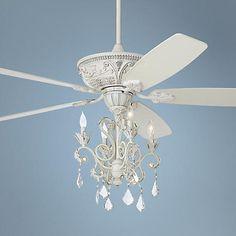 """60"""" Casa Montego™ Rubbed White Chandelier Ceiling Fan"""