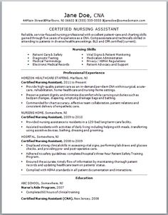 Check Out This Sample Of A CNA Resume. Resumes Are Vital To Getting A  Certified