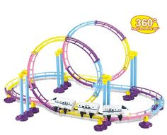 china high speed rail crh train roller coaster electric rail car building set with lights children