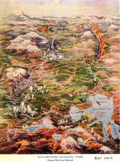 Traveled: Just went here, and this would have been really helpful! Detail of Yellowstone National Park, 1910 Map