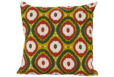 18x18 Reversible Pillow, Green/Red    $39.00