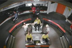 The original set of The Enterprise's bridge