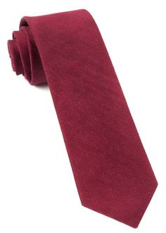 LINEN ROW TIES - CRIMSON   Ties, Bow Ties, and Pocket Squares   The Tie Bar