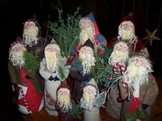 Santa's created at the Farm.   Some of the many great hand-mades at Saltbox Farm.