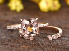 Details about  /0.38Ct Round Cut Aquamarine Engagement Wedding Band Ring in 14K Rose Gold Finish