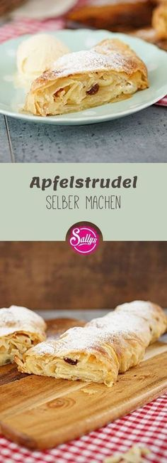 With this recipe you will succeed the apple strudel guaranteed! Warm from the oven the apple strudel tastes best! With this recipe you will succeed the apple strudel guaranteed! Warm from the oven the apple strudel tastes best! Smoothie Recipes For Kids, Healthy Smoothies, Healthy Snacks, Snack Recipes, Pork Recipes, Nutella, Apple Strudel, Apple Desserts, Pumpkin Spice Cupcakes