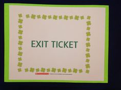 Here's a teacher's insight on how an exit ticket is a quick and effective tool that can be used to gauge how students are performing. Resources for sample tickets are included for you to...