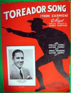 Toreador Song (from Carmen) 1935