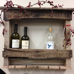 Upcycled Wine Rack - made from old pallets by Mike Johnston.