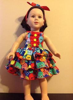 Sweet Tart Doll Dress by amysadams | Sewing Pattern - Looking for your next project? You're going to love Sweet Tart Doll Dress by designer amysadams. - via @Craftsy