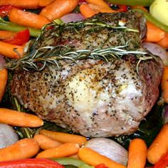 I usually HATE LAMB.  But hubby brought some home so I tried this recipe. So amazing! I put red potatoes in the pan tossed with olive oil and kosher salt, we were all scraping the pan! Delish! Roast Leg of Lamb