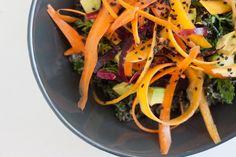 Colorful Massaged Raw Kale Salad