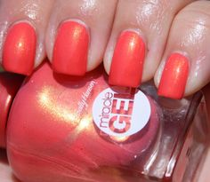 Sally hansen miracle gel in ba-bloom a shimmer-infused bright coral gel col Sally Nails, Sally Hansen Nails, Gel Nail Colors, Gel Color, Christmas Nail Designs, Christmas Nails, Gel Nails French, Nail Design Video, Nail Games