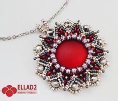 Tutorial Danica Pendant Beading pattern Jewelry от Ellad2 на Etsy