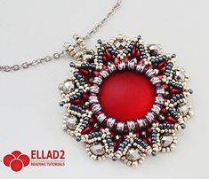 Tutorial Danica Pendant - Beading pattern, Jewelry tutorials,Instant download,Ellad2,Beadwoven pendant