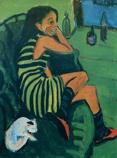 Tableaux sur toile, reproduction de Kirchner, Artiste, 100x76cm