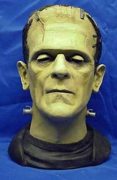 The Monster Life Size Resin Bust Animated Halloween Props, Halloween Cards, Halloween Decorations, Halloween Costumes, Halloween Animatronics, Frankenstein's Monster, Classic Monsters, Horror Art, Vintage Cards