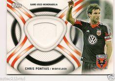 2013 Topps MLS Kits Chris Pontius #KIT-CP DC United Game Worn Jersey