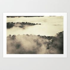 Foggy dreams. Retro Art Print by Guido Montañés - $19.95