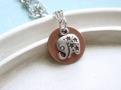 elephant jewelry | ... elephant necklace - perfect for someone who likes petite jewelry