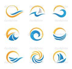 Sol y mar royal viajes experiencia plantilla de logotipo — Ilustración de stock #31174697