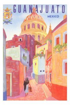 Poster for Guanajuato, Mexico, Colonial Streets Premium Poster
