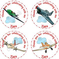 Disney Planes cupcake toppers printable tags and party by Chikoli, $5.00