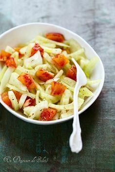 Un dejeuner de soleil: Salade de fenouil et d'oranges comme en Italie