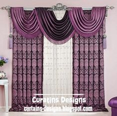 The Luxury American Purple Drapes Curtain For Bedroom Curtain Design Is A Set Of Home Interior