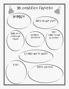 Aprendizaje Divertido: Imprimible: Mi científico favorito Science Week, Teaching Science, Science For Kids, Earth Science, Science Activities, Social Science, Science And Nature, Curious Facts, Human Body Unit