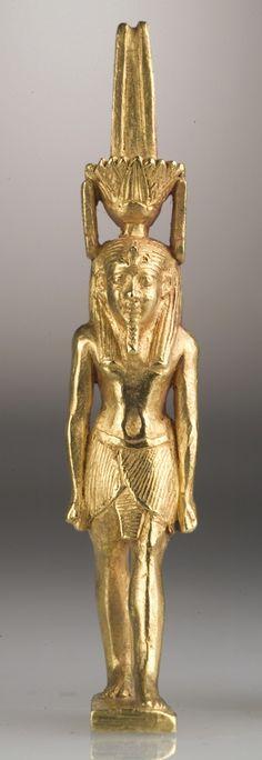 Amulet of the God Nefertem. Egypt, 19th-20th Dynasty, 1315-1081 B.C., Los Angeles County Museum of Art, Los Angeles, CA.