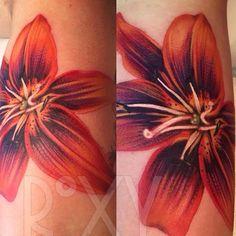 Lily Flower   #nofilter  #lilytattoo #lily #flowertattoo #tattoo #uktattoo #uktattips #uktattooist #tattooartist #instaink #instalondon #instatattoo #sweden #stockholmink #stockholmcity #stockholminktattoo #instastockholm #orangelily #orange #colourtattoo #colourpop #colour #solidink #cheyenneink #swashdrive #envyneedles #flowersleeve #naturetattoo
