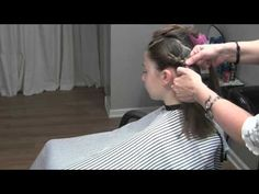 Asymmetrical Updo with Headband and Wrap around French Braids (Hair Tutorial)