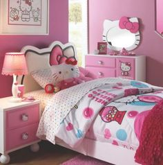 Hello Kitty Bedroom Ideas Meow