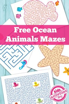 Ocean Animals Printable Mazes