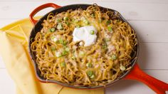 This recipe combines all of your favorite taco flavors into one insanely killer pasta. Get the recipe from Delish.