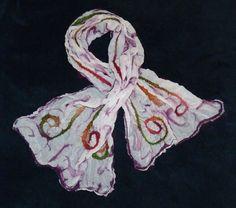 Nuno-felted scarf